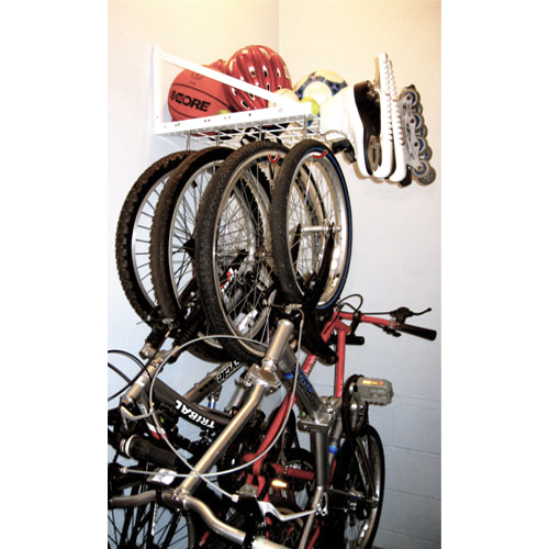 hanging bike rack with shelf