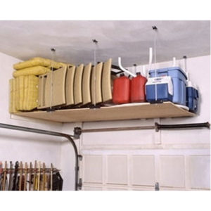 ceiling mounted garage shelving