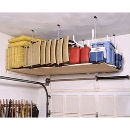 Suspended Shelves From Ceiling: 4 X 8 Ceiling Mounted Garage Shelving System