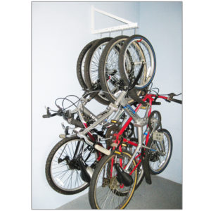 garage hanging bike rack