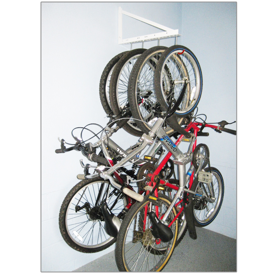 Garage hanging bicycle rack tidygarage for Rack rangement garage