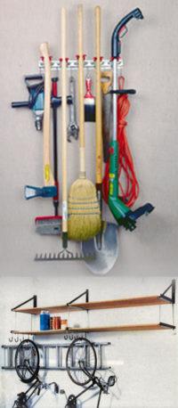 hanging garage tool organizer