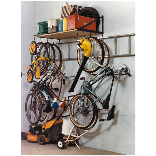 wall mounted garage shelving wall mounted one level garage shelf tidygarage 174 28096