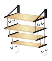 garage wall mounted shelves