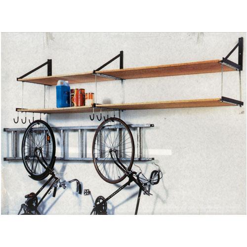 wall mounted garage shelving