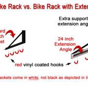 standard bike rack with extender