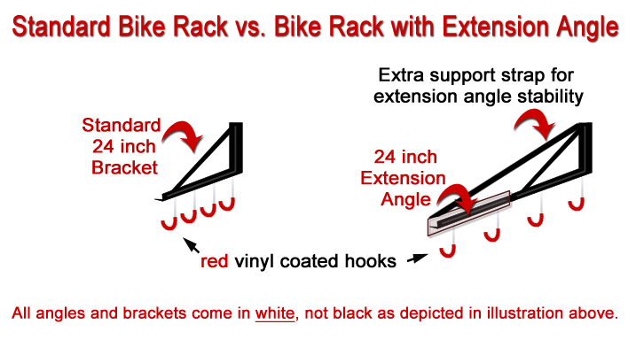 standard bike rack with extender