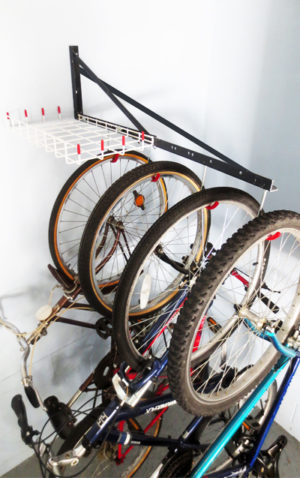 bike rack extender with shelf